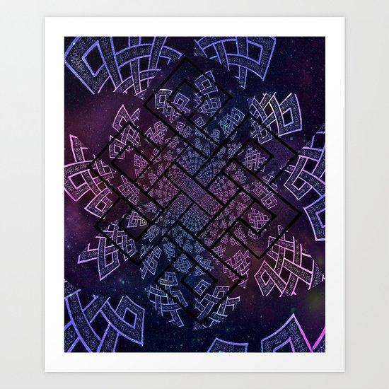 Tibetan Knot/Seed of life  Art Print