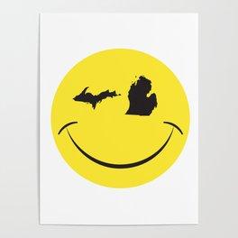 Michigan Smile Face Poster