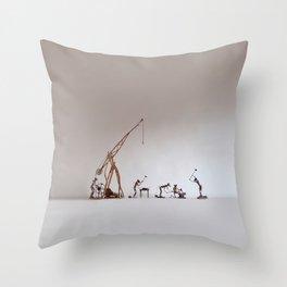 BoneFree's Factory Throw Pillow