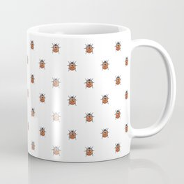 Lucky Ladybug Watercolor Print Pattern Coffee Mug