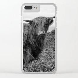 Highland cow II Clear iPhone Case