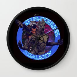 Groot and Rocket - Guardians of the Galaxy Wall Clock