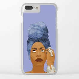 Erykah Badu, Purple Clear iPhone Case