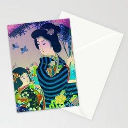 Japanese Geisha Stationery Cards