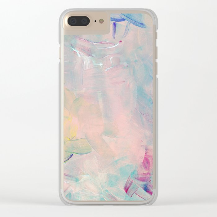 Abstract paint in pink Clear iPhone Case