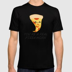 Sour food puns - pizza MEDIUM Mens Fitted Tee Black