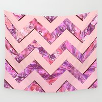 girly Wall Tapestries featuring Girly Pink by gretzky