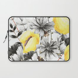 Poppies And Chicory Wildflower Bouquet Laptop Sleeve