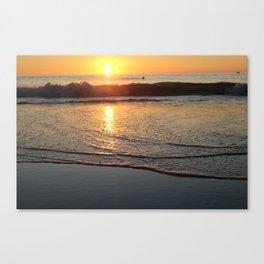 Strand Sunset 2 Canvas Print