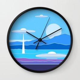 Alien Moon Wall Clock