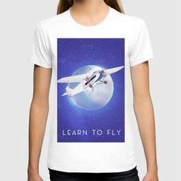 Learn to Fly vintage poster T-shirt