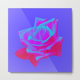 Neon Rose - Single - Orchid Metal Print