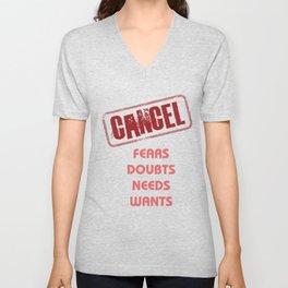 Cancel Unisex V-Neck