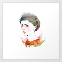 Blue-Eyes Art Print