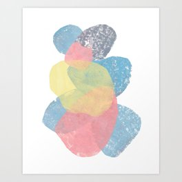 Happy Cairn Graphic Abstract Print Art Print