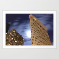 30 seconds to mars Art Prints featuring Flatiron Building/30 Seconds by Jonathan Hess