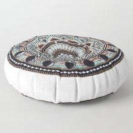 Moon Phase Mandala Floor Pillow