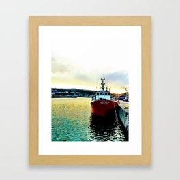 Fishermans Boat - Howth Harbour Framed Art Print