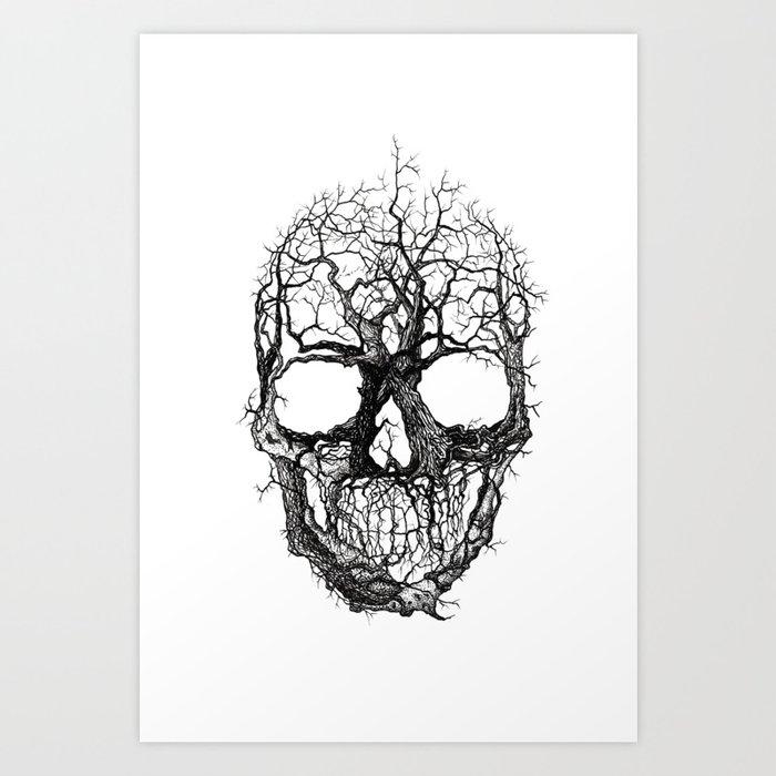 Tree Skull Art Print by eugeneaverin