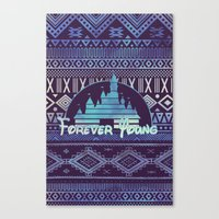 forever young Canvas Prints featuring forever young by Sara Eshak