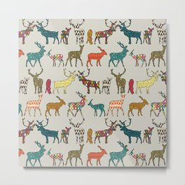 patterned deer stone Metal Print