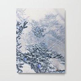 Purple Negative Metal Print