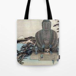 Ukiyo-e, Ando Hiroshige, KAMAKURA DAIBUTSU Tote Bag