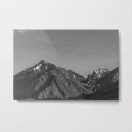California's Sierra Mountains - B & W Metal Print