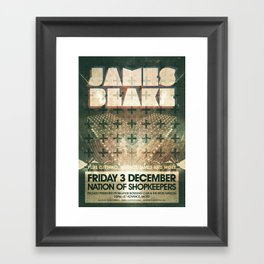 James Blake poster  Framed Art Print