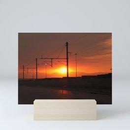 Industrial Sunset  Mini Art Print