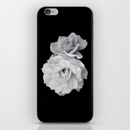 Black and White Roses iPhone Skin