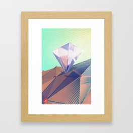 Crystal on Desert Framed Art Print