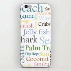 Beach Theme iPhone & iPod Skin