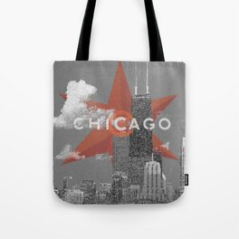 Chicago Lakefront - Grey - Star Tote Bag