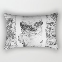 Birch Trees Landscape Photography | Black and White | black-and-white | bw Rectangular Pillow
