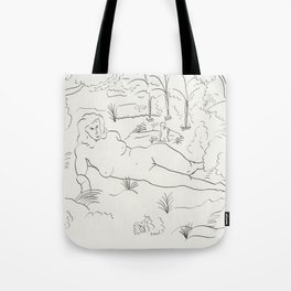 Naked in the Woods Tote Bag