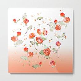tea rose buds Metal Print