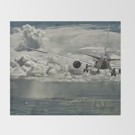 Stormy approach Throw Blanket