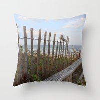 maine Throw Pillows featuring Maine Beach by Thanks for the Memories