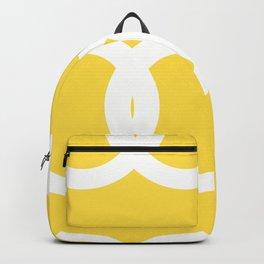 White Circles Yellow Background #decor #society6 #buyart Backpack