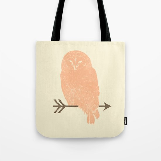 Owl and Arrow Tote Bag