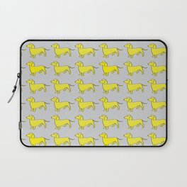 Doxie Love - Grey and Yellow Laptop Sleeve