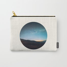 Mid Century Modern Round Circle Photo Graphic Design Mikey Way During Sunset Mountain Silhouette Carry-All Pouch