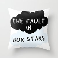 fault in our stars Throw Pillows featuring The Fault In Our Stars by swiftstore