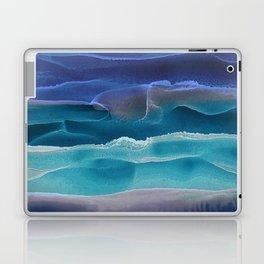 Alcohol Ink Seascape 3 - Sea at Night Laptop & iPad Skin