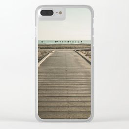 Crooked Walk Clear iPhone Case