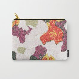 Abstract floral camouflage Carry-All Pouch