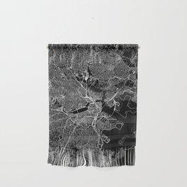 Boston Black Map Wall Hanging