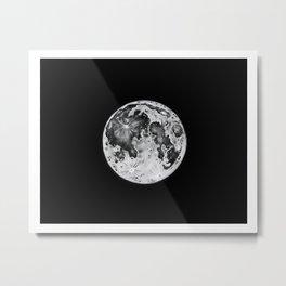 Full Moon Lunar Phase Metal Print