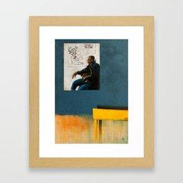 On a visit Framed Art Print